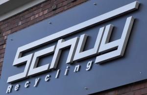 Schuy-Recycling Verwaltungsgebäude Firmenschild